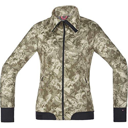 Gore Bike WEAR Damen Warme Soft Shell Mountainbike-Jacke, Stretch, Gore Windstopper, Power-Trail Lady Print WS SO Jacket, Größe: 38, Camouflage, JWSFLP