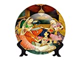 Ggsolution Ceramic Decorative Plate with Stand (Multi_8.2 Inch X 8.2 Inch X 1.1 Inch)