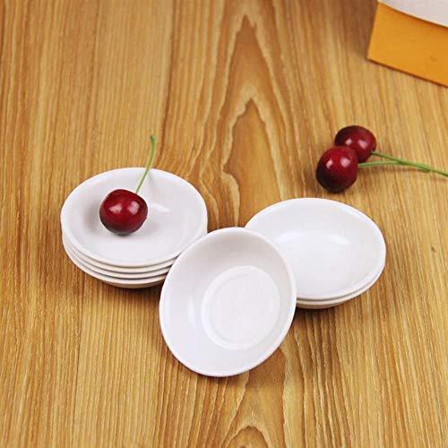 Gouen 10st witte plastic saus gerechten voedsel dompelen kommen breukbestendig kruiden schotel schotel voorgerecht borden