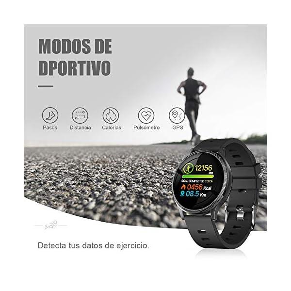 BANLVS Reloj Inteligente, Smartwatch IP67 1.22 Pulgadas Pulsómetro, Monitor de Sueño, Presión Arterial,Pulsera Actividad… 6
