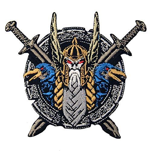 Parche bordado Odin El Dios Guerra planchar coser