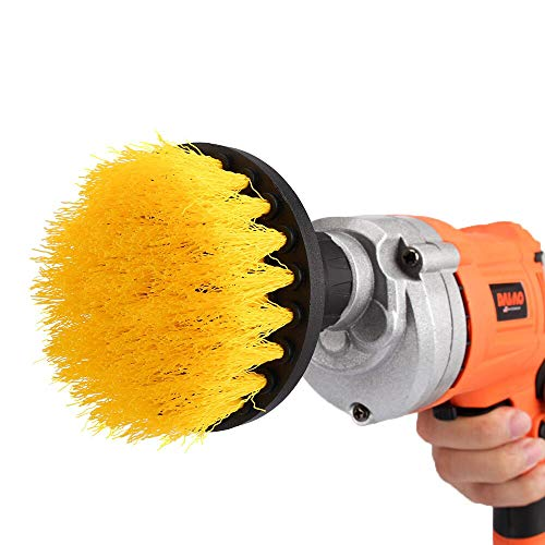 Abrasive Tools 5' 120mm Drill Brush Power Drill Brush Attachment Use To Clean Tile Flooring Grout Scrub Tool Cleaning Car Tires 1-3Pac - (Grit: 3Pac)
