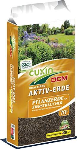 Cuxin Bio Pflanzerde⎜für Obst, Ziersträucher, Bäume, Koniferen, Hecken und Buchsbäume⎜mit 100 Tage Dünger (Pflanzerde, 70 L)