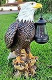 Solar American Bald Eagle Statue with Solar Light-EA