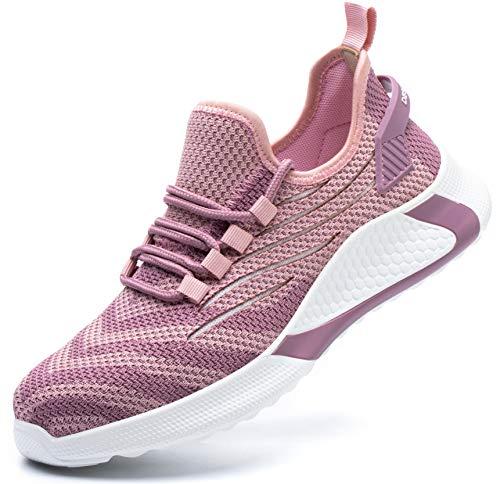 SUADEX 安全靴 レディース ピンク 軽量 あんぜん靴 スニ一カ一 作業靴 通気性 おしゃれ 工事 現場 靴 作業 鋼先芯 耐摩耗 防刺 耐滑 アウトドア ワーク シューズ セーフティーシューズ
