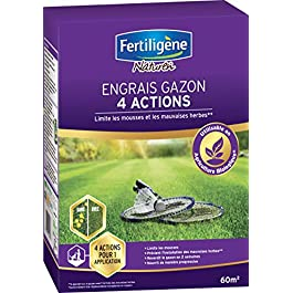 FERTILIGENE Engrais Gazon 4 Actions, 2,45kg, 60m²