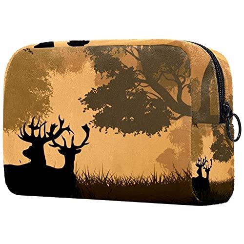 Neceser de viaje, impermeable, bolsa de aseo para mujeres y niñas, mariposas y flores, 18,5 x 7,5 x 13 cm