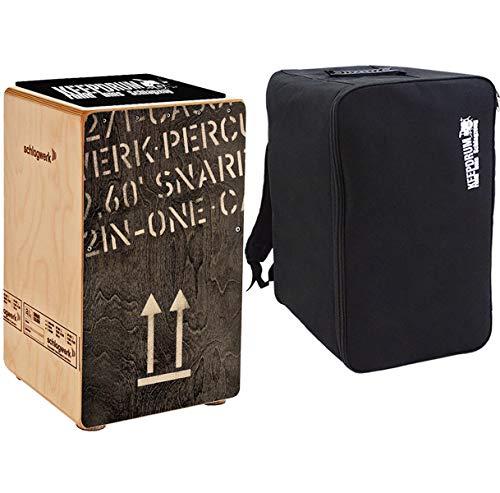 Schlagwerk CP404 BLK Cajon + keepdrum Rucksack-Tasche + Sitzpad
