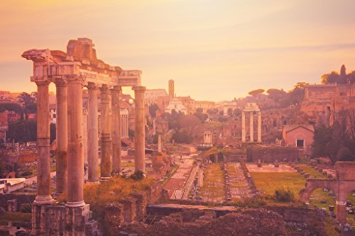 The Roman Forum at Dusk Rome Italy Photo Art Print Poster 18x12