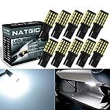 Ngcat T10 168 W5W Ampoule Led 800LM 6000K 3014 54-ex pour feux de plaque d'immatriculation latéraux de...