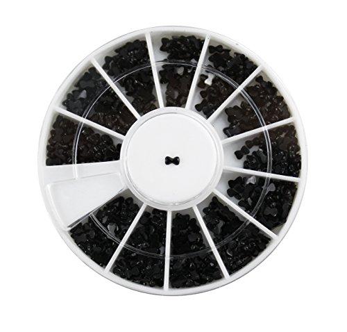 Rondell – vliegen klein – zwart – ca. 1.200 stuks - nagelstudio glitter A. 1341