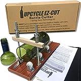 Glass Bottle Cutter Kit: Beer & Wine Bottle Cutter Tool to Make Glasses + Edge Sanding Paper & Spring-Force Technology Kit
