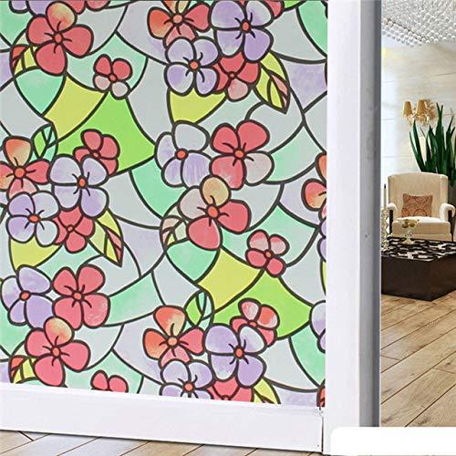 Piero Film op het raam Cover Film Zelfklevende glassticker Folie Zonnebrandcrème PVC Waterdichte badkamer, wide45cm long100cm