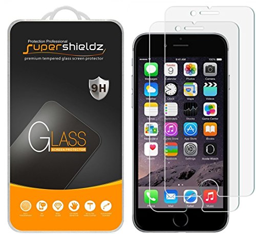 Supershieldz (2 Pack) for iPhone 6S Plus and iPhone 6 Plus (5.5 inch) Tempered Glass Screen Protector Anti Scratch, Bubble Free