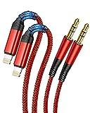2 Pack Cables Auxiliares de Audio Trenzados para iPhone[Apple MFi...