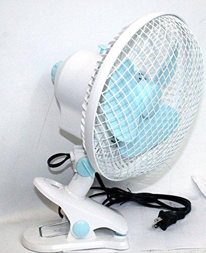 KCHEX > Ventilador multiusos de 2 velocidades de 7 pulgadas, montaje en la pared, o clip ON 110 V > 7 pulgadas, ventilador de 2 velocidades de grado comercial con resorte con diseño de clip, oscilante y inclinable 110 V 60 Hz 25 W