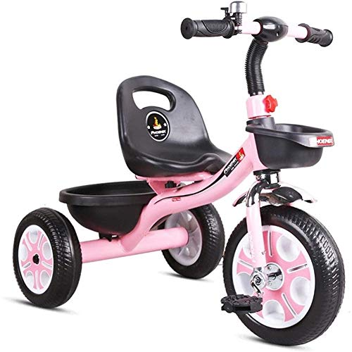 Kids' Tricycles Baby Stroller,Kids Bike Portable Children's Tricycle, Boy and Girl Toy Cars Best Gifts for Children (Color : Pink)