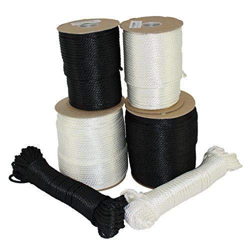 SGT KNOTS Massiv Braid Dacron Polyester Seil 1/20,3cm 5/81,3cm 3/40,6cm 1/10,2cm 5/40,6cm 3/20,3cm (Verschiedene Längen), weiß