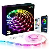 Tiras LED USB Dream Color 5M, TASMOR Luces LED RGB+IC 16 millones de Colores, Tira de Led Bluetoonth con Control Remoto APP, Iluminación Decorativa para TV Coche Pasillo Bar Fiestas y Habitación
