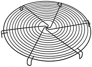 GOGOBEST Antihaft-Kuchengitter aus Metall, Backgitter aus Edelstahl, Brotblech, rundes Backblech, Durchmesser 29,5 cm, schwarz