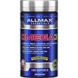 Allmax Nutrition Omega 3 Ultra-Pure Cold-Water Fish Oil Concentrate, 180 Count