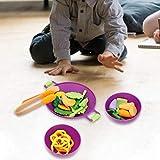 Rosvola Early EducationKitchen Soft Food Vegetable Educational Pretend Play House Toy Set, Gran Regalo para niñas y niños - Regalos de cumpleaños para niños Toy