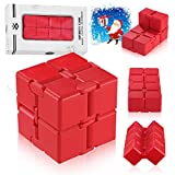 ss shovan Infinity Cube Red Silicone Fidget Cube Toy Hand Killing Time Prime Fidget Toy Infinite Cube for ADD, ADHD, Anxiety, and Autism Adult and Children (red)