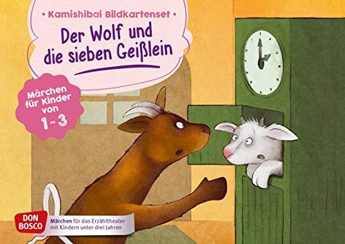 Der Wolf und die sieben Geißlein. Kamishibai Bildkartenset. Märchen für Kinder von 1–3. Mit dem Erzähltheater Grimms Märchen entdecken. ... Erzähltheater mit Kindern unter drei Jahren)