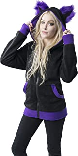 Color Theme Mew Kitty Cat Eared Hoodie Jacket