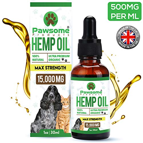 Pawsome Products® Hemp Oil for Dogs, Cats & Pets | High Strength...