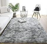 Alfombras de Interior Modernas Ultra Suaves LYKEJI, alfombras mullidas para Sala de Estar, adecuadas para el Dormitorio de los niños, decoración del hogar, alfombras de guardería (Gris, 60 x 160 cm)