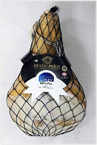 Karst Prosciutto - Kraski Prsut Luftgetrockneter Rohschinken 16 Monate gereift ca. 9,56 kg - am Stück mit Knochen mit Meersalz aus der Saline von Piran, Kraski Prsut aus Istrien