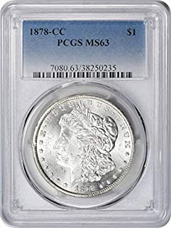 1878-CC Morgan Silver Dollar, MS63, PCGS