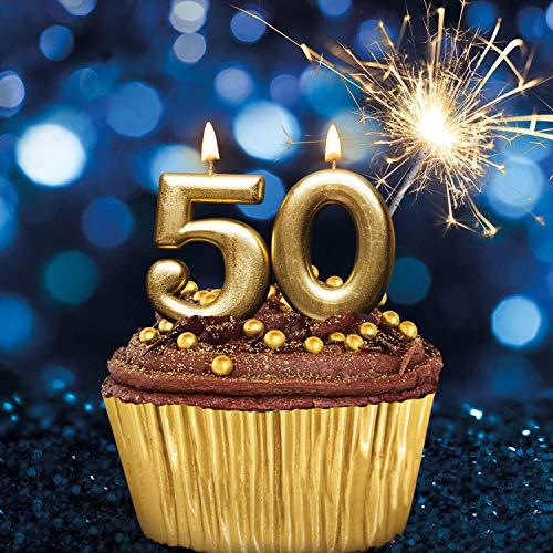 smartbox - Cofanetto Regalo per Uomo o Donna - Buon 50 Compleanno! - Idee Regalo Compleanno - 1 Soggiorno, 1 Cena, 1 Trattamento Benessere o 1 attività Sportiva per 1 o 2 Persone
