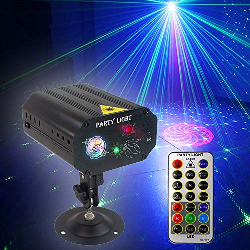 small size Party Lighting Dj Disco Light, Strobe Light Stage Light, Activate with Multiple Patterns, Remote Control Projector for Party, Bar, Birthday, Wedding, Holiday, Event, Live Show, Christmas Decoration, Light