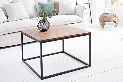 DuNord Design Couchtisch Stage 70cm Sheesham massiv schwarz Beistelltisch Holztisch Massivholztisch Natur