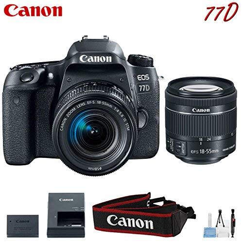 Canon EOS 77D Digital SLR Camera with 18-55mm Lens Kit (International Model)