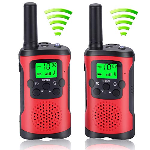 Walkie Talkies for Kids with 2Pcs Lanyards, Two Way Radio Long Range Walkie Talky Toy with Flashlight for Boys Girls Birthday Children Day /Christmas Day Gift