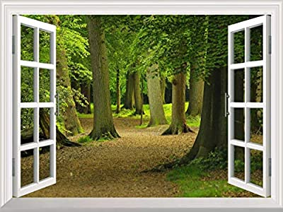 3D Windows Landscape Wall Mural Stickers Home Decor Prints Painting Y009