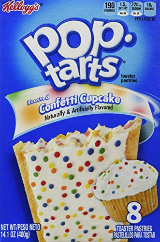 Kellogg's Frosted Confetti Cake 8 Count Pop Tarts