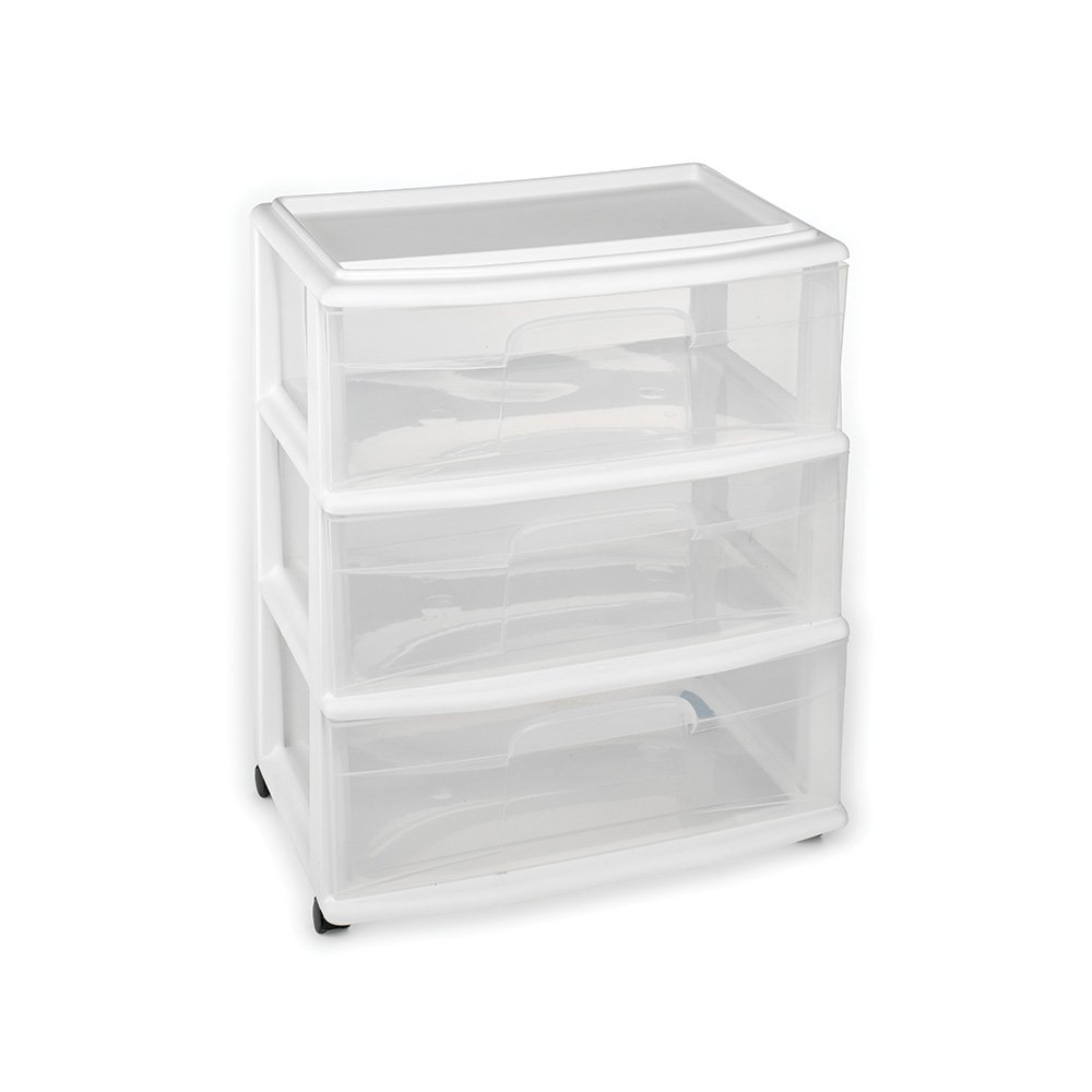 Plastic Drawer Drawers Casters Included