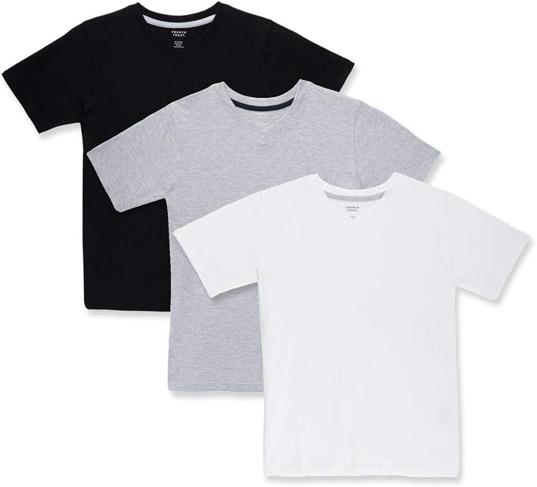 French Toast Boys 3-Pack TEE Shirt (Black/Grey/White, XL)