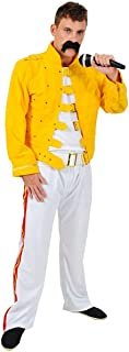 Mens Freddie Mercury Queen Fancy Dress Costume 80s Wembley Rock
