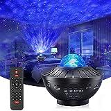 Proiettore a stella con timer e telecomando, 2 in 1 Ocean Wave Proiettore per camera da le...