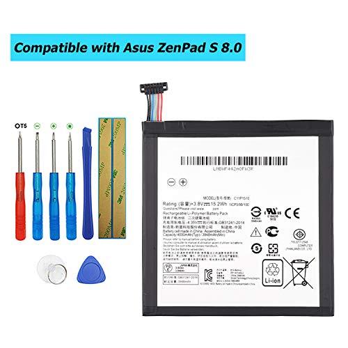 E-YIIVIIL C11P1510 - Batería de repuesto compatible con Asus ZenPad S 8.0 Z580CA (con kit de herramientas)