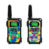 Walkie Talkie para Niños,8 Canales,Radios de 2 Vías,3km de Largo Alcance Walkie Talkie Toys con Linterna y Pantalla LCD Retroiluminada para Niños y Niñas Actividad al Aire Libre en Interiores