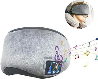 Sleep Headphones Wireless Eye Mask, USB Chargeable Eye Cover for Sleeping Travel, Washable Sleeping Travel Music Eye Cover Built-in Earphones Handsfree Microphone