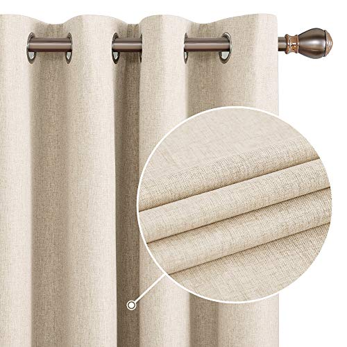 Deconovo 100% Blackout Curtains 84 Inch Length 2 Panels Set, Thermal...