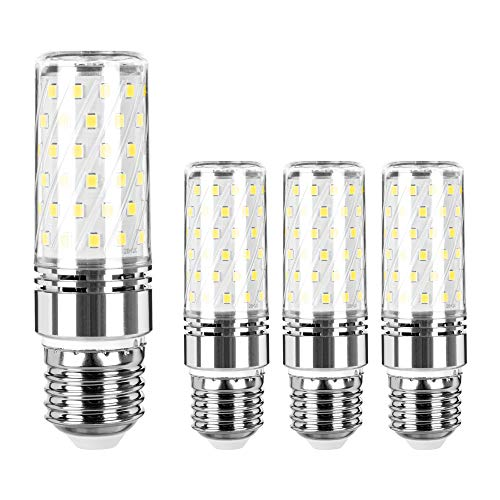 4 lampadine a LED E27, 16 W, 6500 K, 1300 lm, luce bianca fredda, sostituisce lampadine a incandescenza da 120 W, 150 Watt, non dimmerabile, classe energetica A+