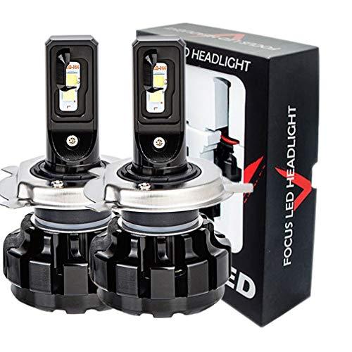 Ampoule lumineuse H4 H7, 2 * ampoule lumineuse de puce de kit 160W 16000LM 6000K CSP de projecteur à LED